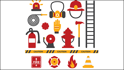 16 models of Fire element icon vector material