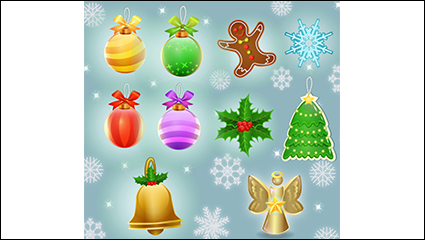 Paragraph 10 Christmas decoration icon vector material