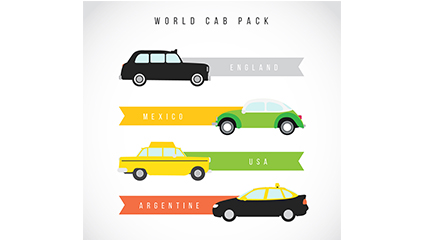 4 taxi decoration banner vector