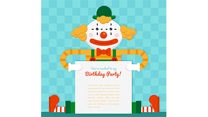 Creative Clown Birthday Party poster vector